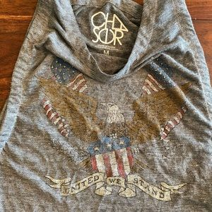 Chaser American Flag Crop Top